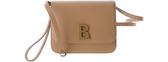 Beige Leather Small B Shoulder Bag - Balenciaga