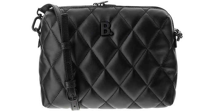 Black Quilted Leather B Camera Bag - Balenciaga