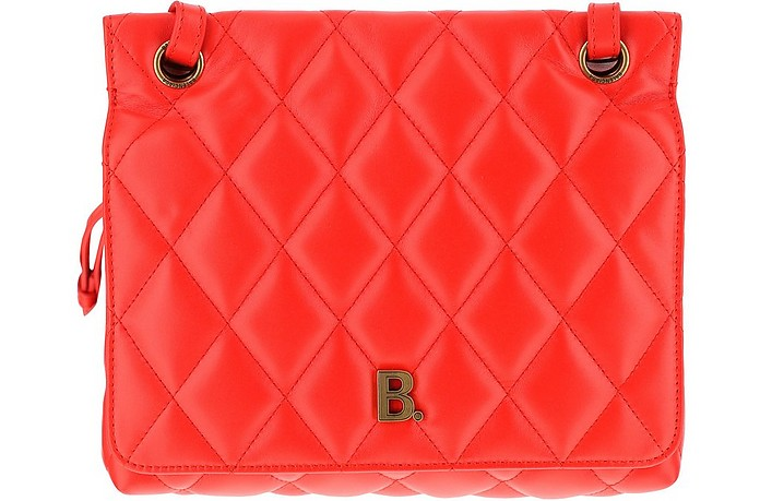 Red Quilted Leather Shoulder Bag - Balenciaga