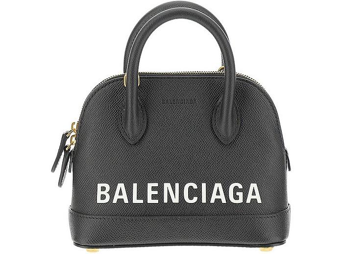 Black Signature Ville Satchel Bag - Balenciaga