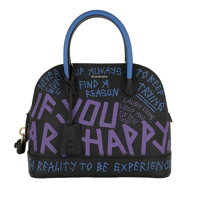Ville Graffiti Bag S Leather Black - Balenciaga
