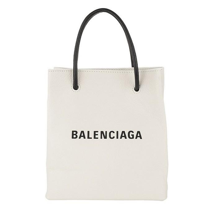Shopping Tote XXS Blanc/Noir - Balenciaga