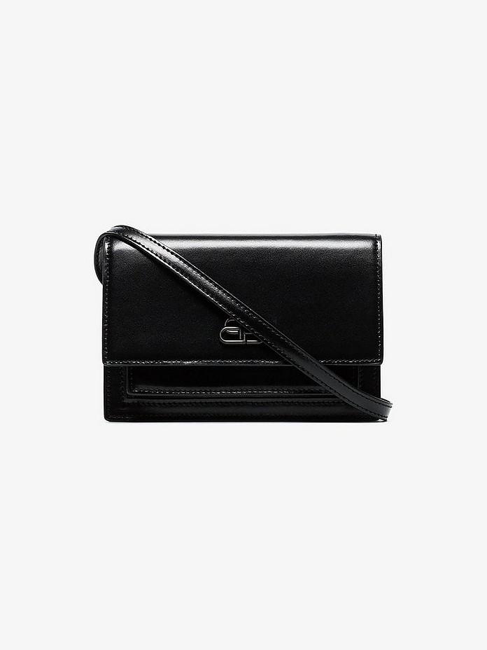 Balenciaga Belt Black XS Sharp Leather Belt Bag