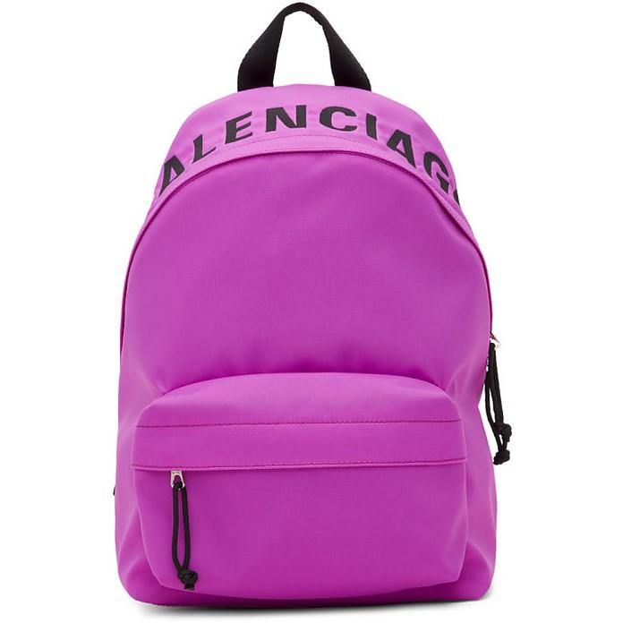 Purple Small Wheel Backpack - Balenciaga