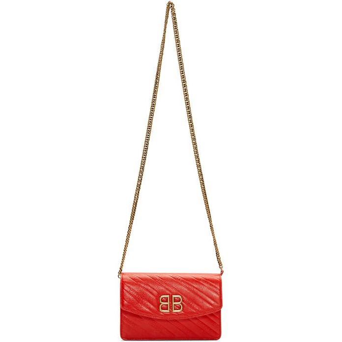 Red BB Wallet On Chain Bag - Balenciaga