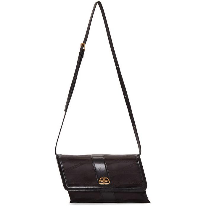 Black Monogram Shift Wallet Bag - Balenciaga