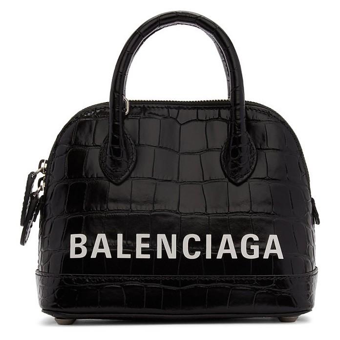 Black XXS Croc Ville Top Handle Bag - Balenciaga