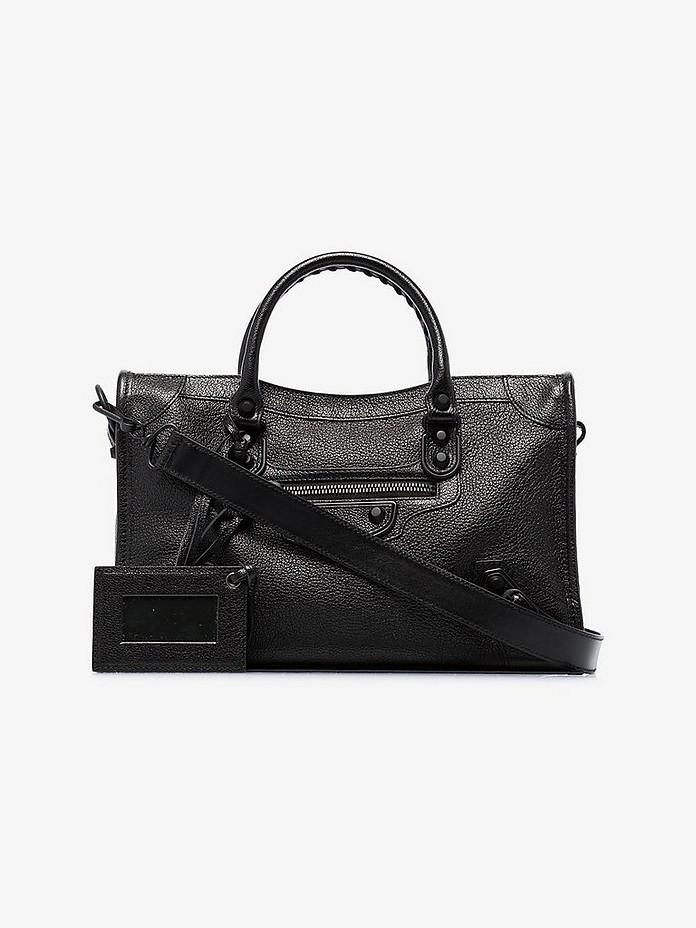 Black city leather shoulder bag - Balenciaga