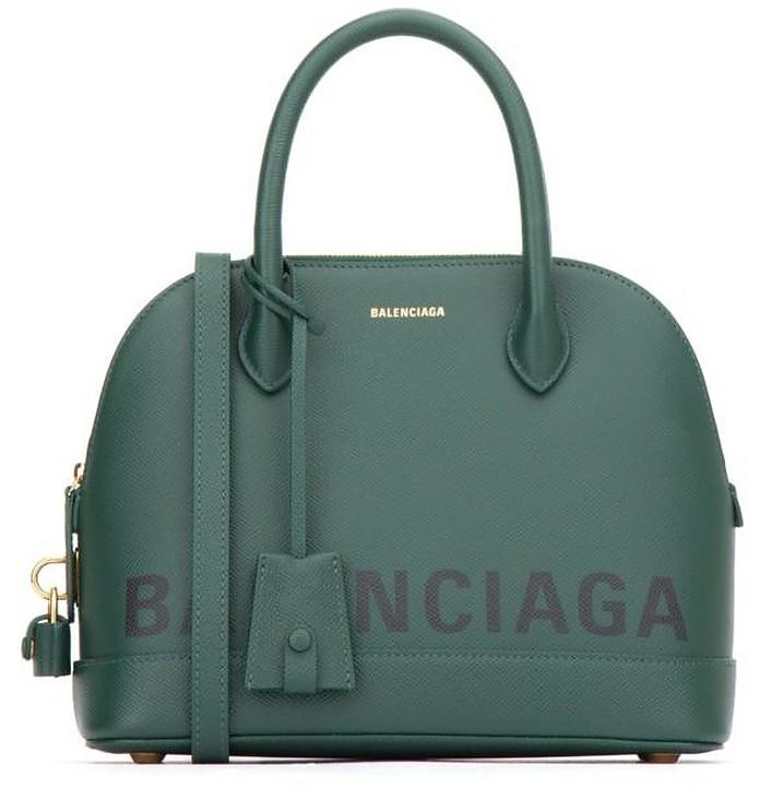 Green Signature Ville Bowler Bag - Balenciaga