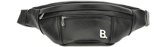 Black Leather Soft XS Belt Bag - Balenciaga