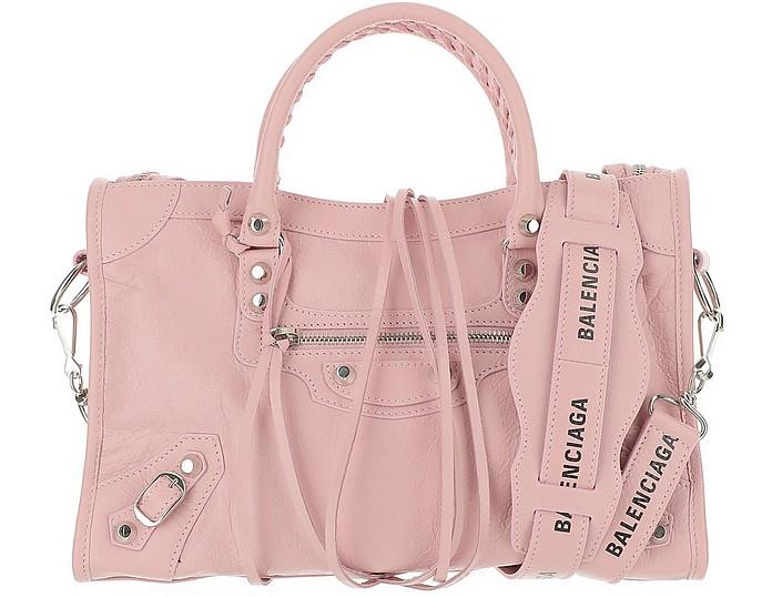 Pink Leather Classic City S Satchel Bag - Balenciaga