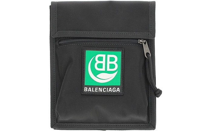 Black Nylon Explorer Clutch - Balenciaga