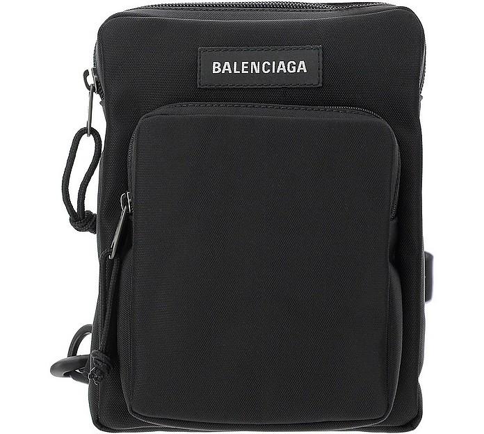 Black Nylon Explorer Shoulder Bag - Balenciaga