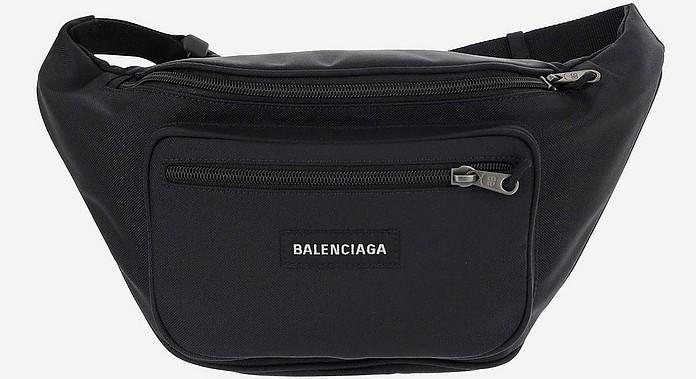 Black Nylon Men's Waistbag - Balenciaga