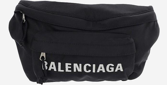 Black and White Nylon Belt Bag - Balenciaga