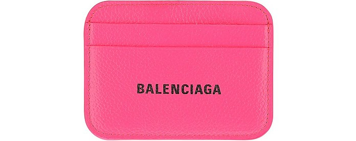 Pink Leather Card Holder - Balenciaga