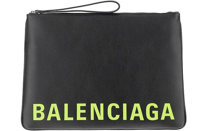 Black Signature Wallet/Clutch - Balenciaga
