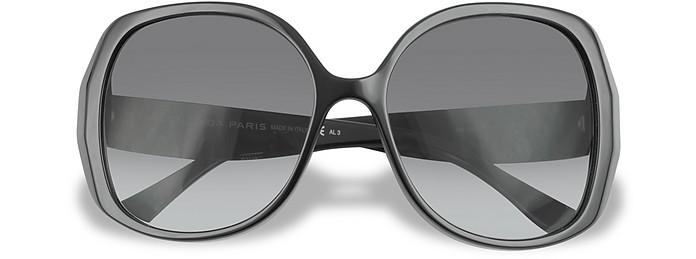 Bevelled Edge Round Sunglasses - Balenciaga