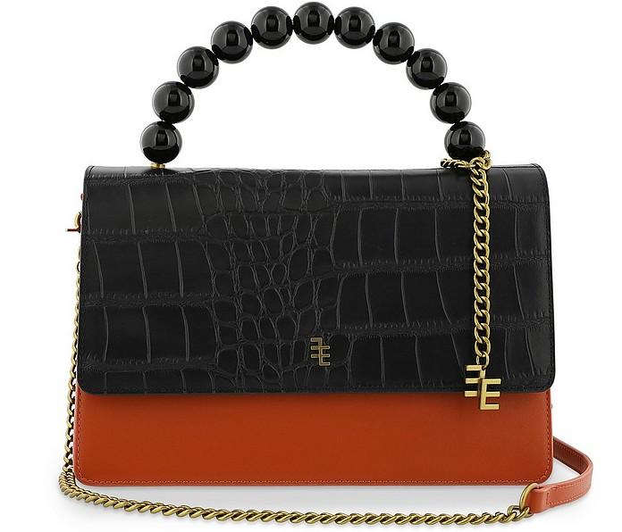 Hazel Color Block Leather Top Handle Bag - Enamoure
