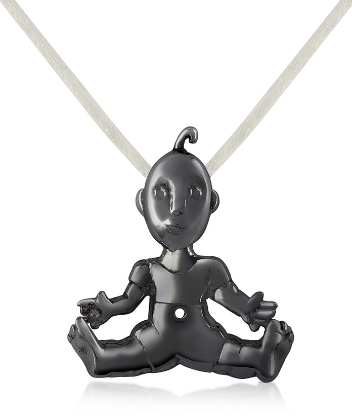 I Mimmi - Black Stainlees Steel Baby Pendant - B. Paoletti