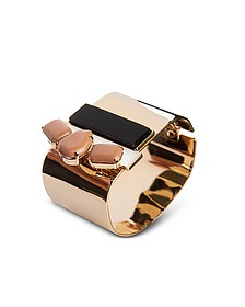 Arlequin Golden Brass Cuff w/Nude Crystals - Egotique