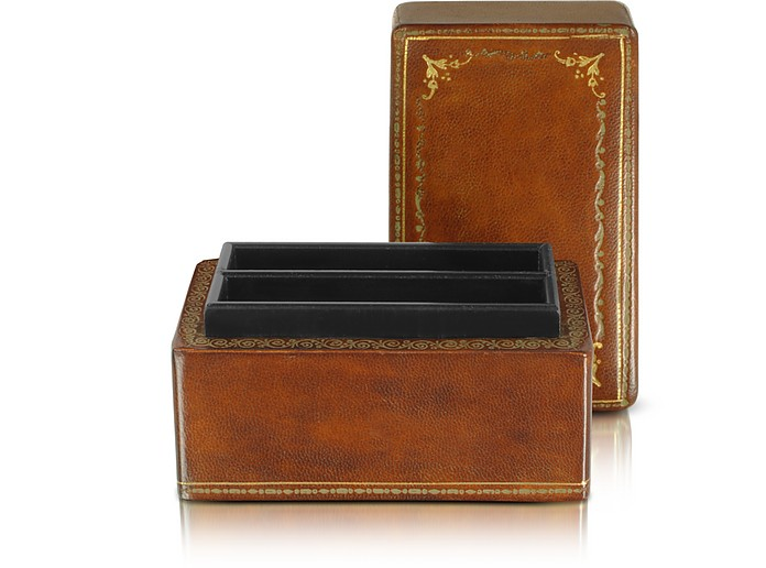 Genuine Leather Card Box - Forzieri