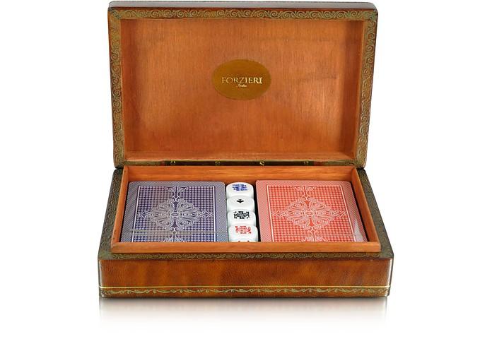 Genuine Leather Game Box - Forzieri
