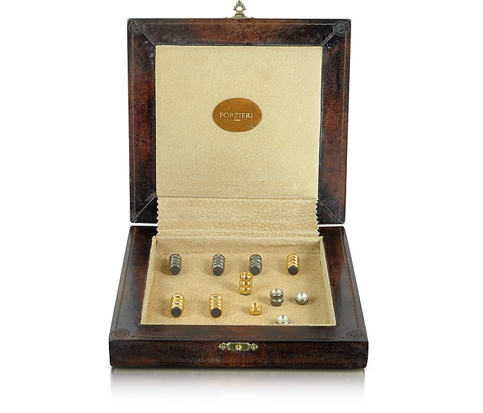 Genuine Leather Backgammon Board with Magnetic Pieces  - Forzieri
