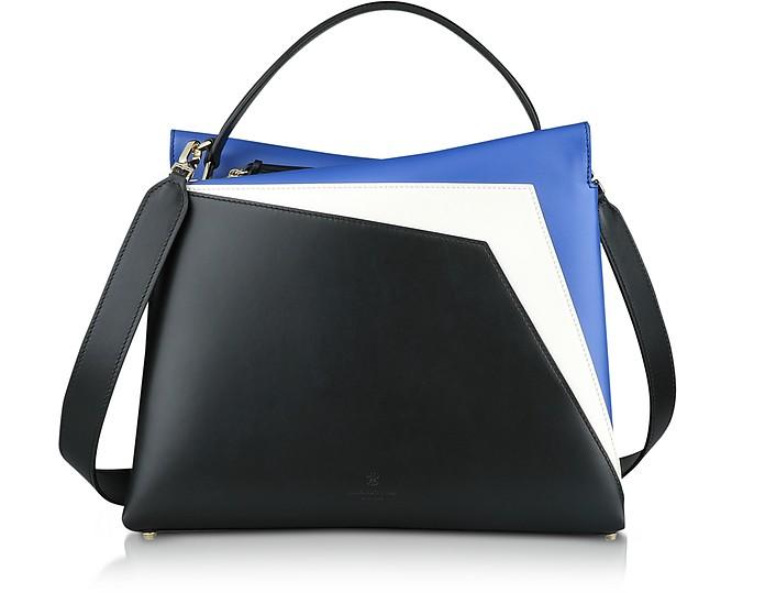 Tricolor Leather Vela Collage Shoulder Bag - Lara Bellini