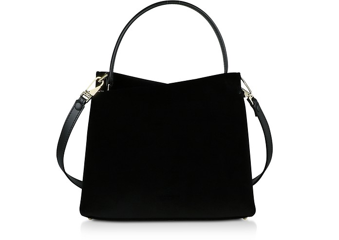 Vela Mini Velvet Top Handle Bag - Lara Bellini