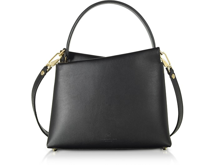 Genuine Leather Vela Mini Top Handle Bag - Lara Bellini