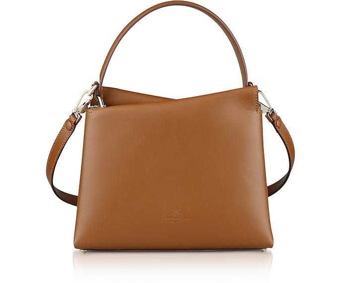 Genuine Leather Vela Mini Top Handle Bag - Lara Bellini