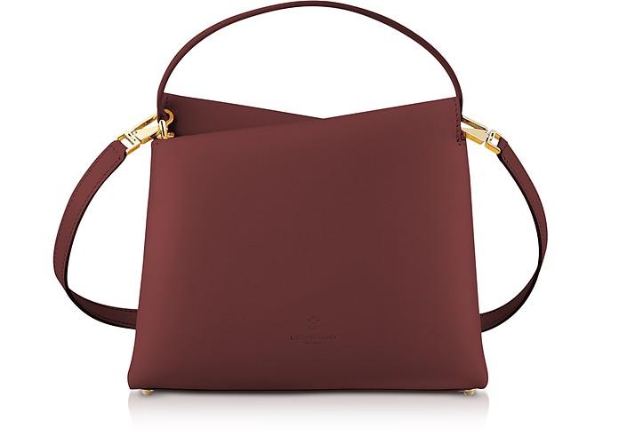Genuine Leather Vela Mini Top Handle Bag by Lara Bellini