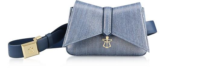 Denim Blue Kiki Micro Belt Bag - Lara Bellini