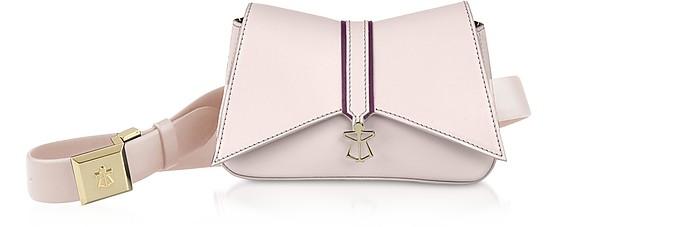 Pink Leather Kiki Micro Belt Bag - Lara Bellini