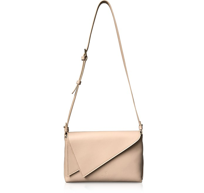 Pink Leather Flip Mini Shoulder Bag - Lara Bellini