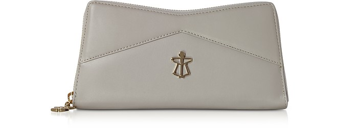 Zip Around Leather Continental Lara Wallet - Lara Bellini