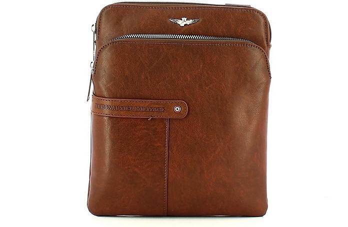 Men's Brown Crossbody Bag - Aeronautica Militare
