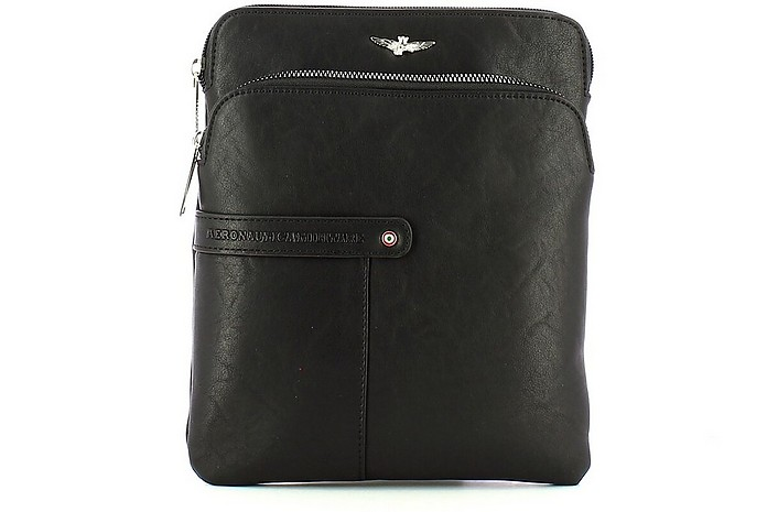 Men's Black Crossbody Bag - Aeronautica Militare