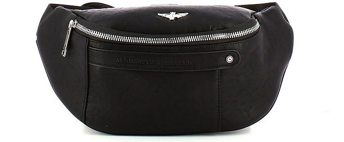 Men's Black Belt Bag - Aeronautica Militare