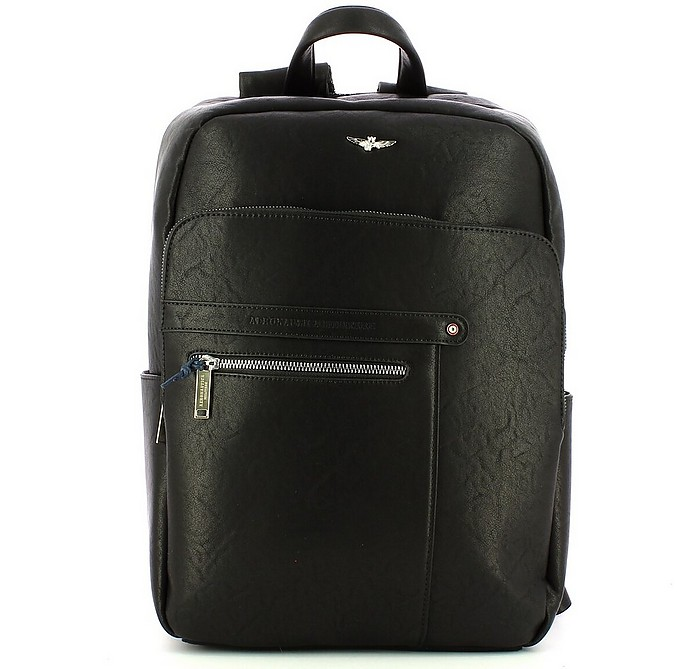 Men's Black Backpack - Aeronautica Militare
