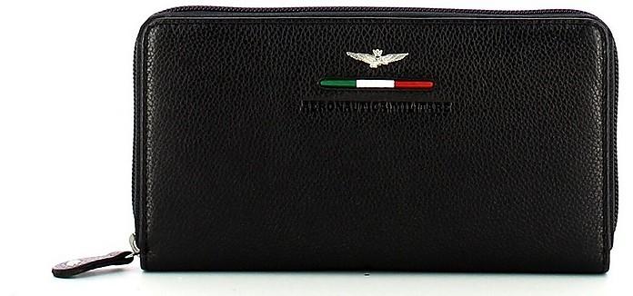 Women's Black Wallet - Aeronautica Militare