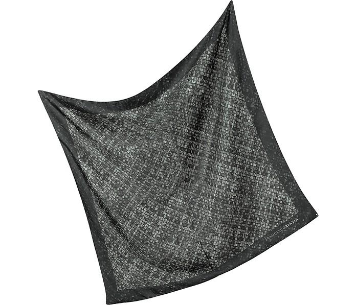 Woven Leather Print Silk Scarf - Francesco Biasia