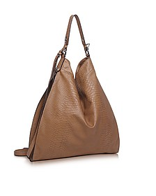 Madeleine Brown Embossed Leather Tote