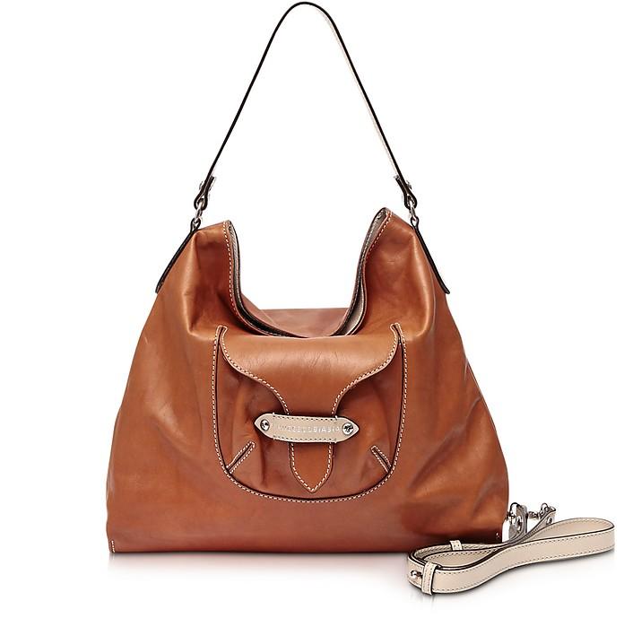 Kensington Large Leather Shoulder Bag - Francesco Biasia