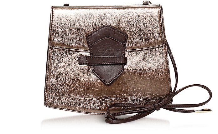 Vida Metallic Leather Crossbody Bag - Francesco Biasia