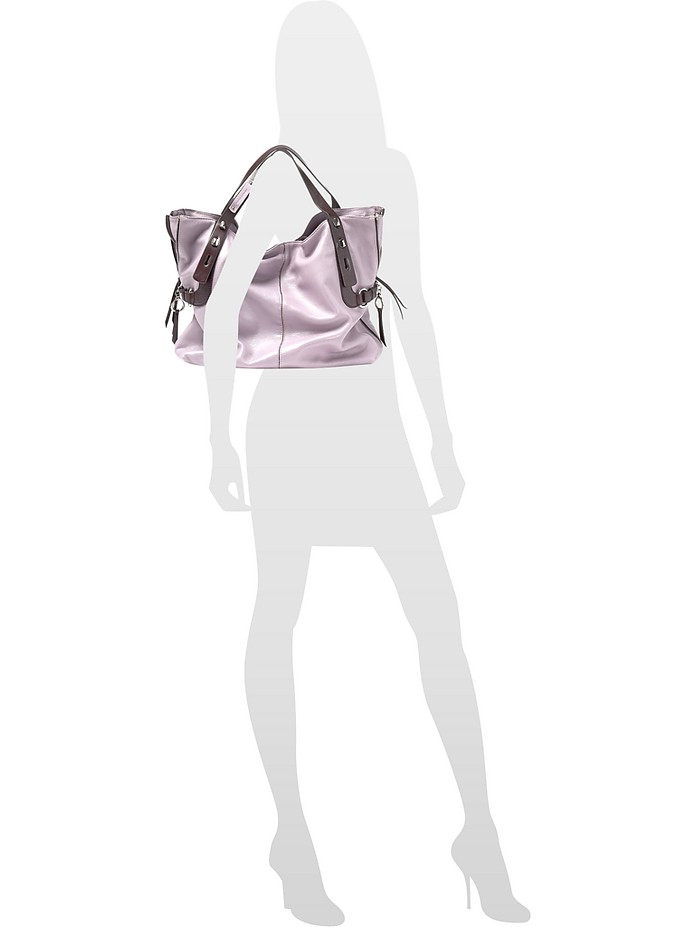 adac7ca72f All in 1 - Two-tone Leather Large Tote Bag - Francesco Biasia. £259.00  Actual transaction amount
