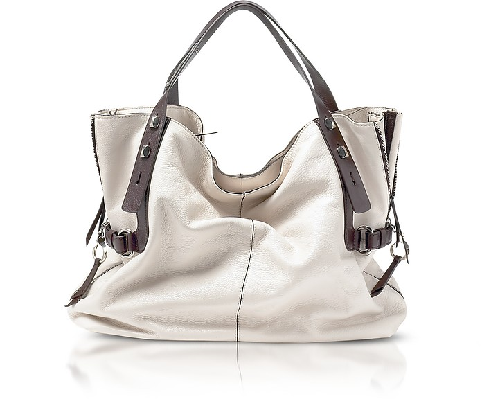 be77b81de3 Francesco Biasia Ice/Morus All in 1 - Two-tone Leather Large Tote ...