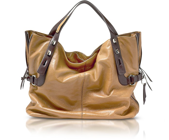 81604e1af1 Francesco Biasia Lion/Morus All in 1 - Two-tone Leather Large Tote ...