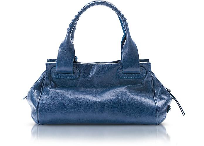 Demetra - Leather Satchel Bag - Francesco Biasia